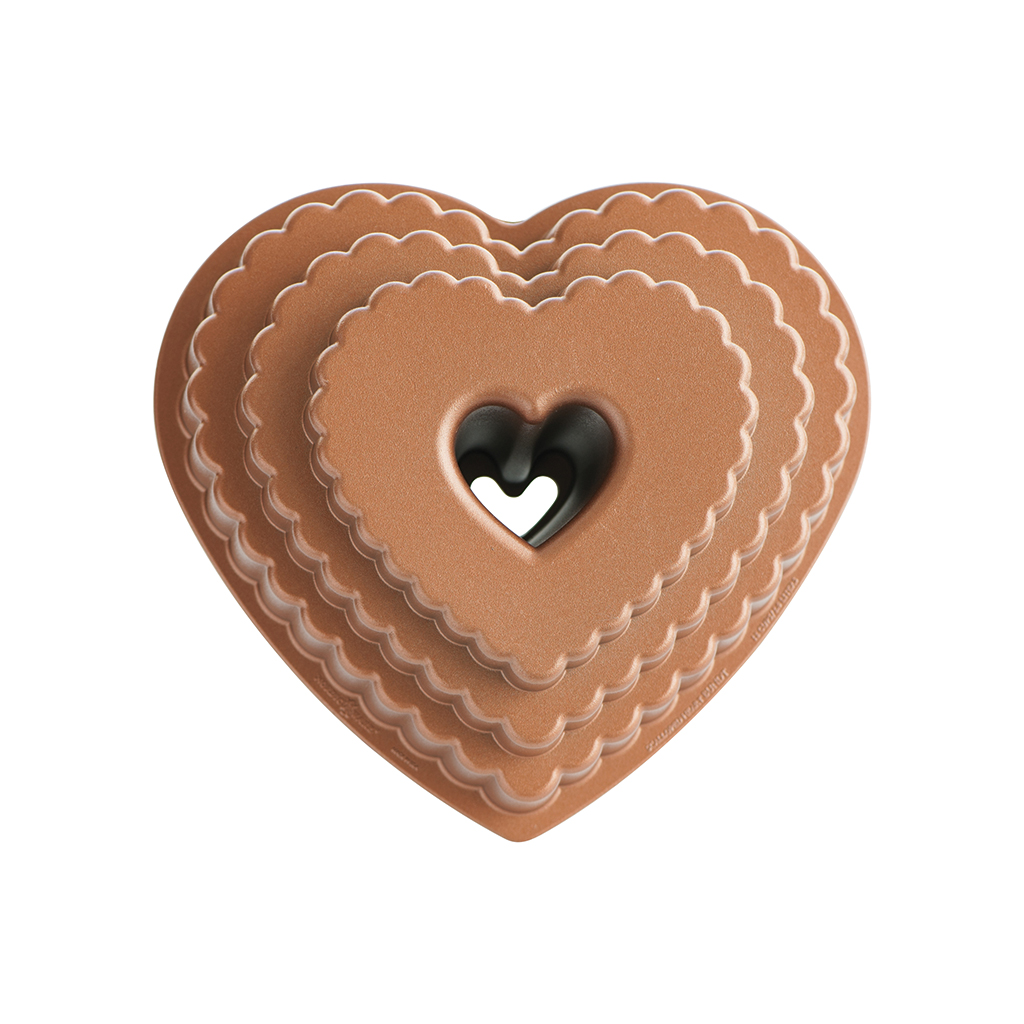 Stampo per Bundt - Tiered Heart