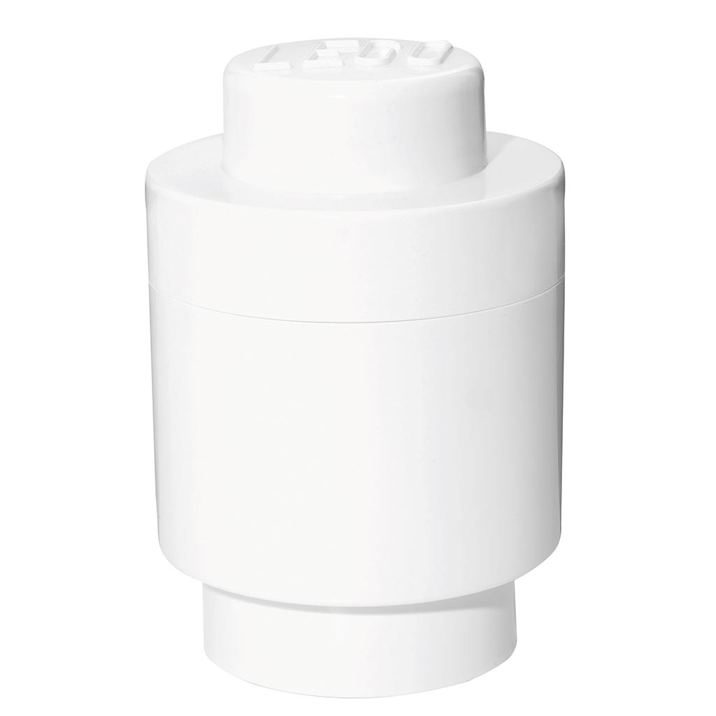 LEGO - Storage Brick 1 Round White