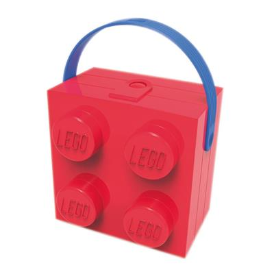 LEGO - Lunch Box Red con maniglia