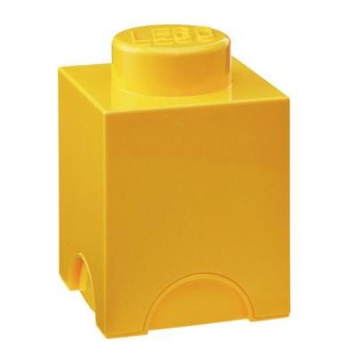 LEGO - Storage Brick 1 Yellow
