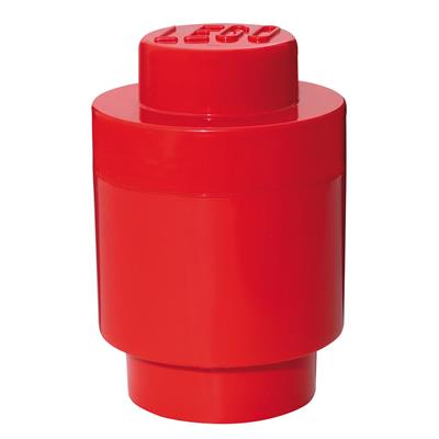 LEGO - Storage Brick 1 Round Red