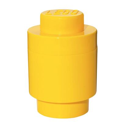 LEGO - Storage Brick 1 Round Yellow